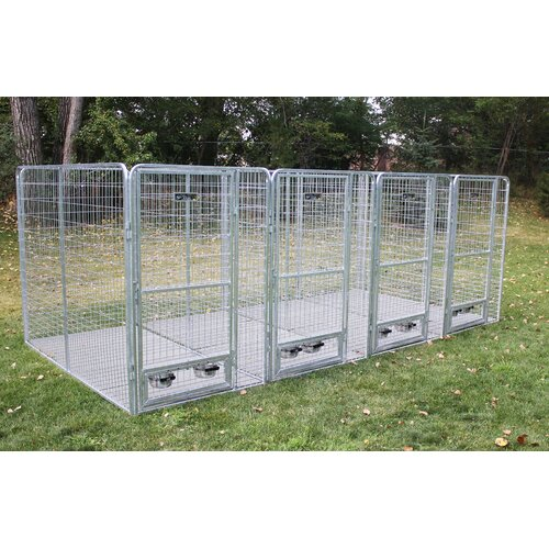 Kennel Pro 4 Dog Galvanized Steel Yard Kennel & Reviews
