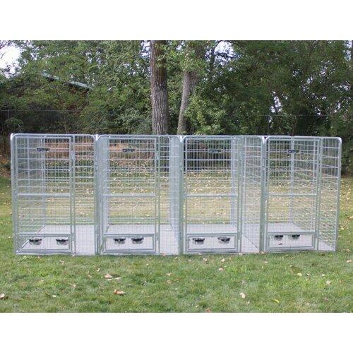 Kennel pro 4 dog galvanized steel yard kennel amp reviews wayfair