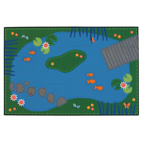 Kids Value Rugs Tranquil Pond Kids Rug