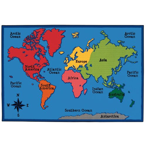 World Map Baby Rug: Kids Value Rugs World Map Kids Rug & Reviews