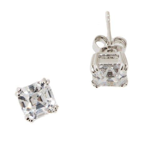 Cubic Zirconia Round Cut Stud Earring