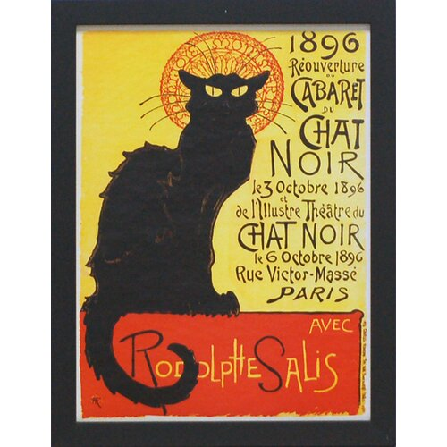 'Cabernet Chat Noir' by Vintage Apple Framed Vintage Advertisement