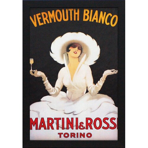 'Vermouth Bianco' by Vintage Apple Framed Vintage Advertisement