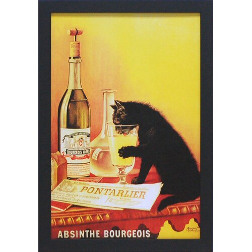 'Absinthe Bourgeois' by Vintage Apple Framed Vintage Advertisement