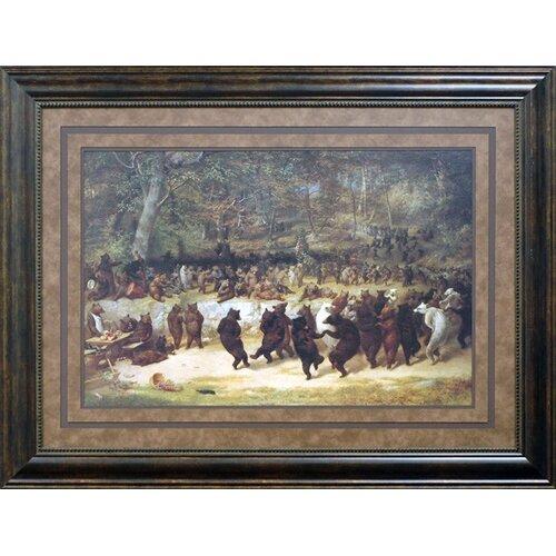 'The Bear Dance' by William Holbrook Beard Framed Painting Print