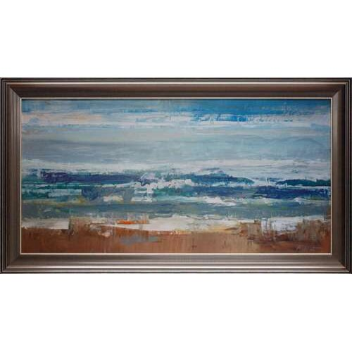 'Pastel Waves' by Peter Colbert Framed Painting Print