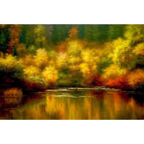 Nature's Mirror by Melody Thomes Painting Print on Canvas