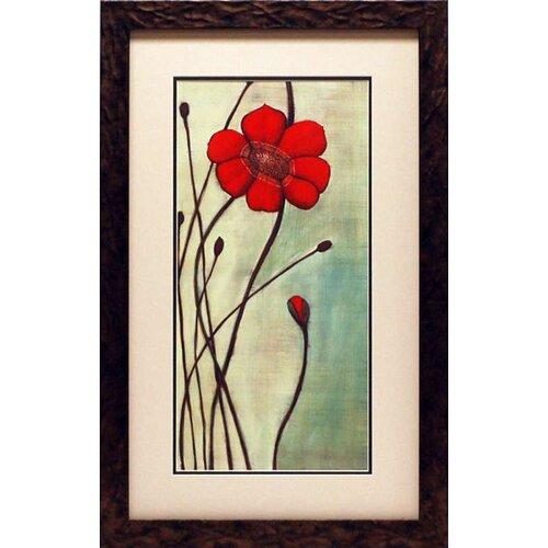 North American Art Eclat Rouge by Ella Codo Framed Painting Print