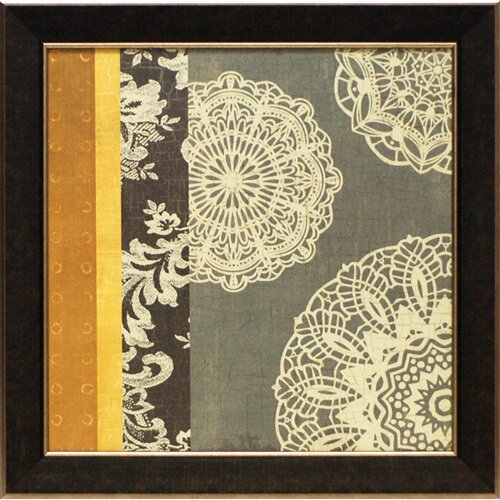 Contemporary Lace I by M.Chocolate Framed Graphic Art