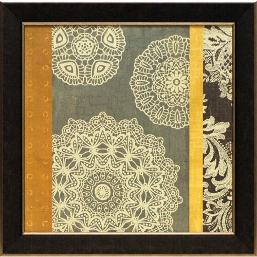 'Contemporary Lace II' by M.Chocolate Framed Graphic Art