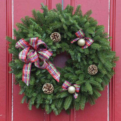 Jeweled Ribbon Wreath