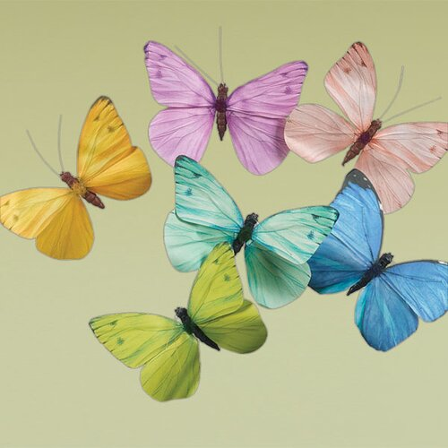 Oddity Inc. Clip On Butterflies Figurine