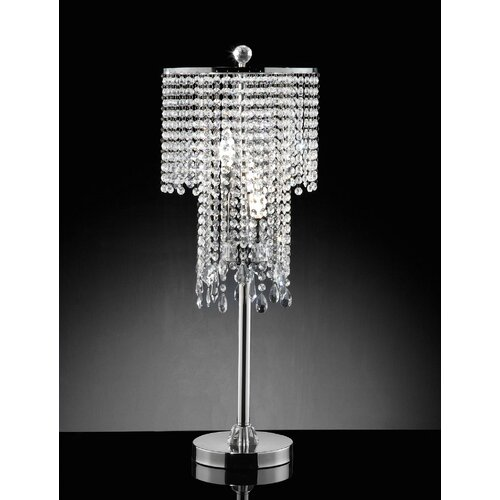 Crystal Table Lamp Drum Shade Best Inspiration For Table
