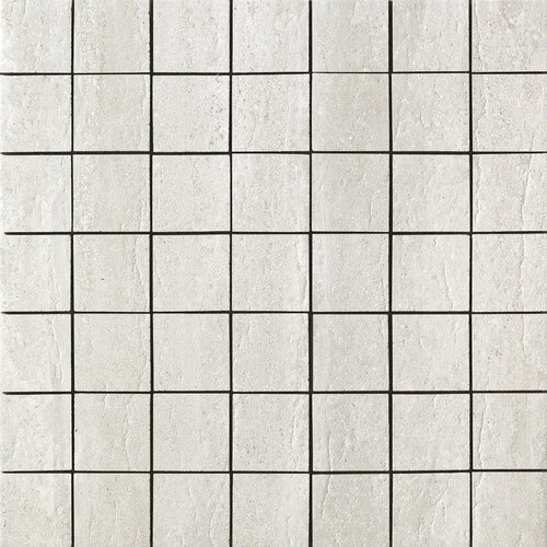 Travertini Matte Mosaic Floor and Wall Tile in Grigio
