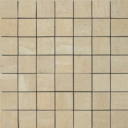 Samson Travertini Matte Mosaic Floor and Wall Tile in Cream