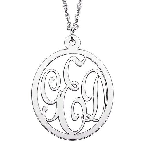 Sterling Silver Initial Monogram Pendant