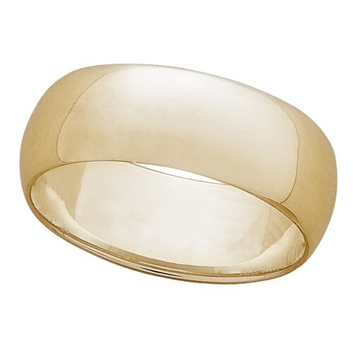 Gold Plated Sterling Silver Wide Band