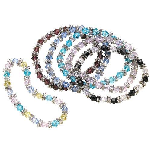 Crystal Beaded Bracelet (Set of 6)