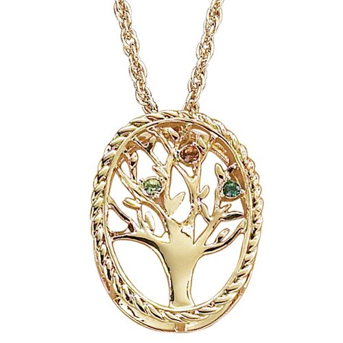 Remy and Rose Family Tree Birthstone Necklace - 3 stone