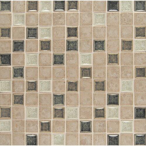 "Bedrosians 1"" x 1"" Stone Mosaic Blend Tile in Bliss"