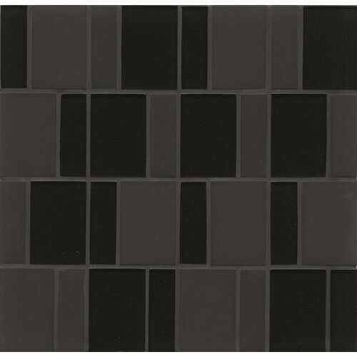 Random Sized Mosaic Brick Pattern Tile in Midnight