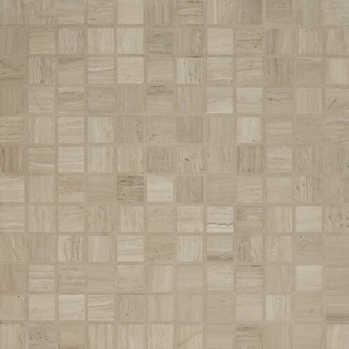 Stone Mosaic Honed Tile in Ashen Grey