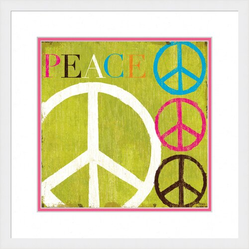 Pastel Peace Framed Graphic Art