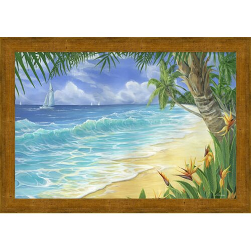 Birds of Paradise Framed Painting Print