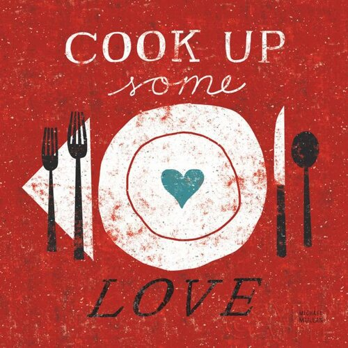 Cook Up Some Love Graphic Art on Canvas