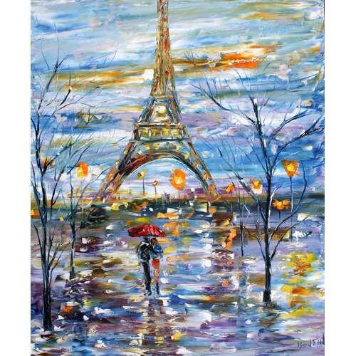 'Paris Romance' by Karen Tarlton Painting Print on Canvas
