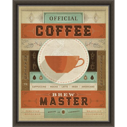 Coffee Brew Master Framed Graphic Art