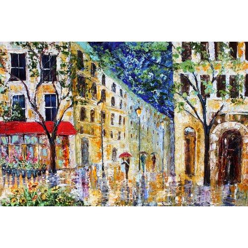 'Paris Street' by Karen Tarlton Painting Print on Canvas