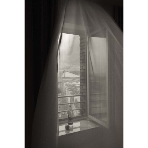 'Open Hotel Window' by Geoffrey Ansel Agrons Photographic Print on Canvas