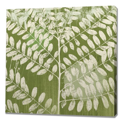 Jade Foliage Painting Print on Canvas