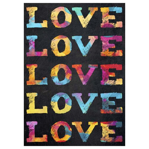 'Love' by Elisabeth Fredriksson Textual Art on Canvas