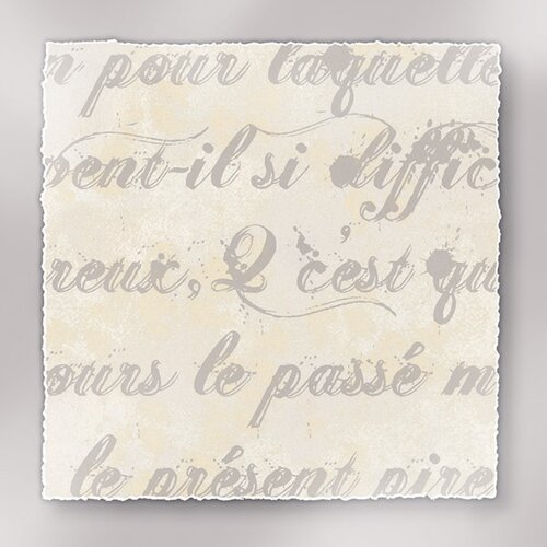 Epic Art Rich Script French Writing I Textual Art on Canvas