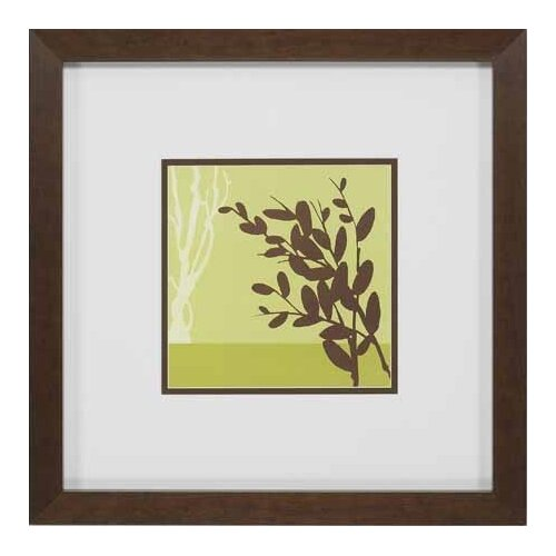 Metro Leaves in Chartreuse II by Erica Vess Framed Graphic Art