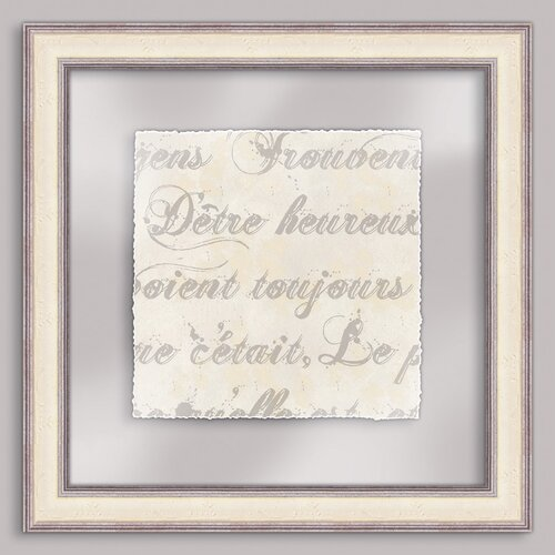 Epic Art French Writing V Framed Textual Art