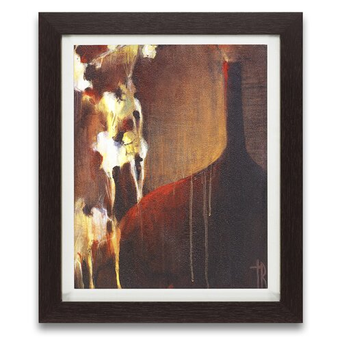 Epic Art Persimmon Vase II Framed Graphic Art