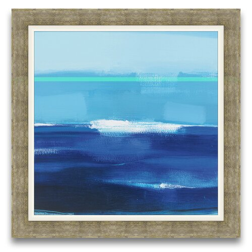 Epic Art Cerulean Seas Framed Graphic Art