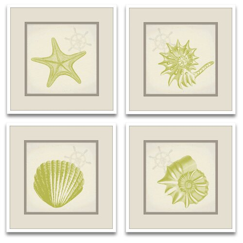 Epic Art Tina's Shells Framed Graphic Art