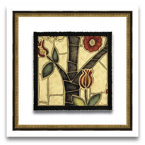Patterns of Passion Floral Mosaic III Framed Graphic Art
