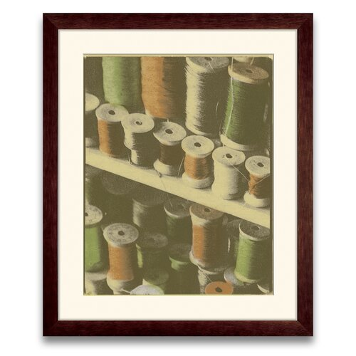 Epic Art Legacy of Commerce Colored Spools I Framed Graphic Art