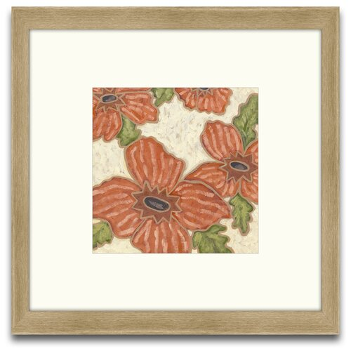 Epic Art Patterns of Passion Persimmon Floral II Framed Graphic Art