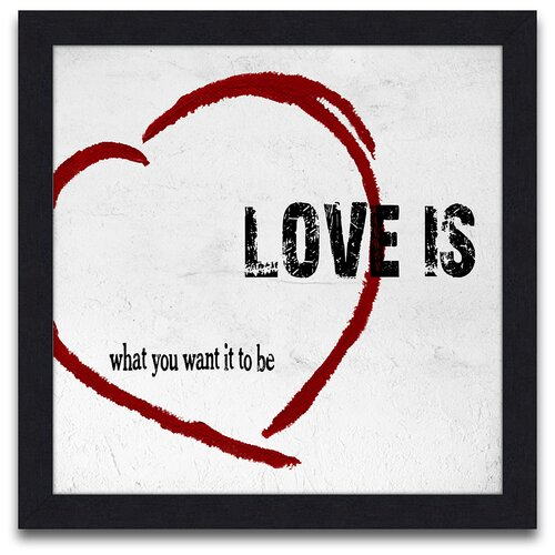 Words to Live Love Is Framed Graphic Art
