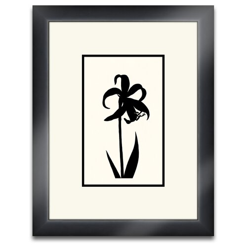 Epic Art Floral Silhouette I Framed Graphic Art