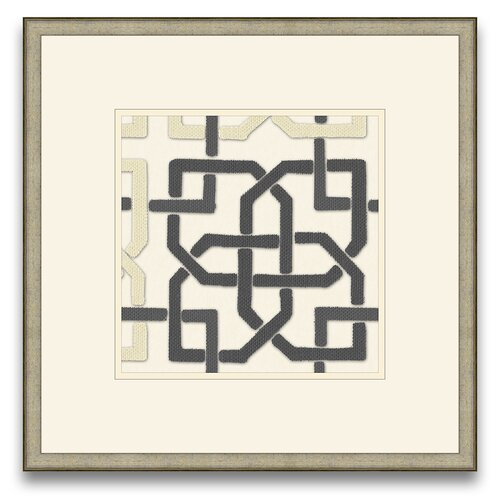 Epic Art Euclid's Charm Felt Interlocking I Framed Graphic Art