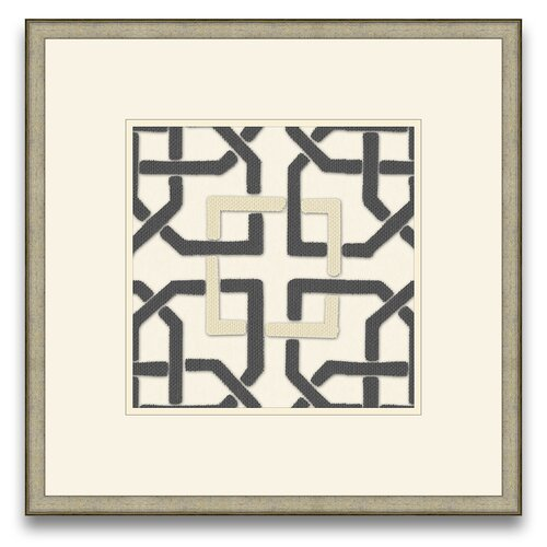 Euclid's Charm Felt Interlocking II Framed Graphic Art