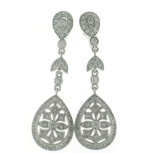Art Deco Pear Drop Earrings
