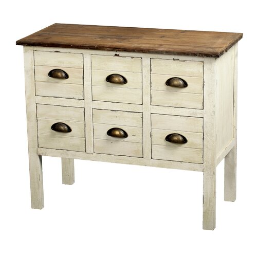 Gallerie Decor Dover 6 Drawer Accent Chest